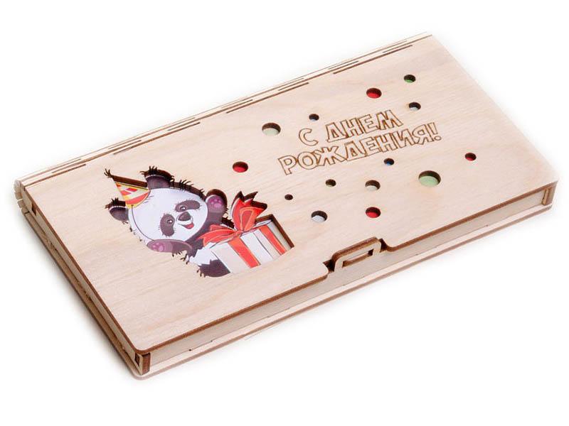 Конверт подарочный Wonder Wood Панда с коробкой WWGFENVBIR/3