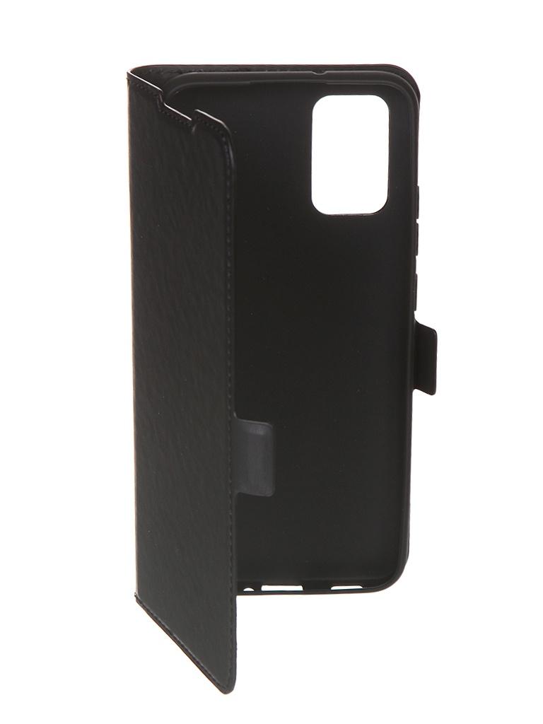 Чехол с флипом DF для Samsung Galaxy A02s Black sFlip-76
