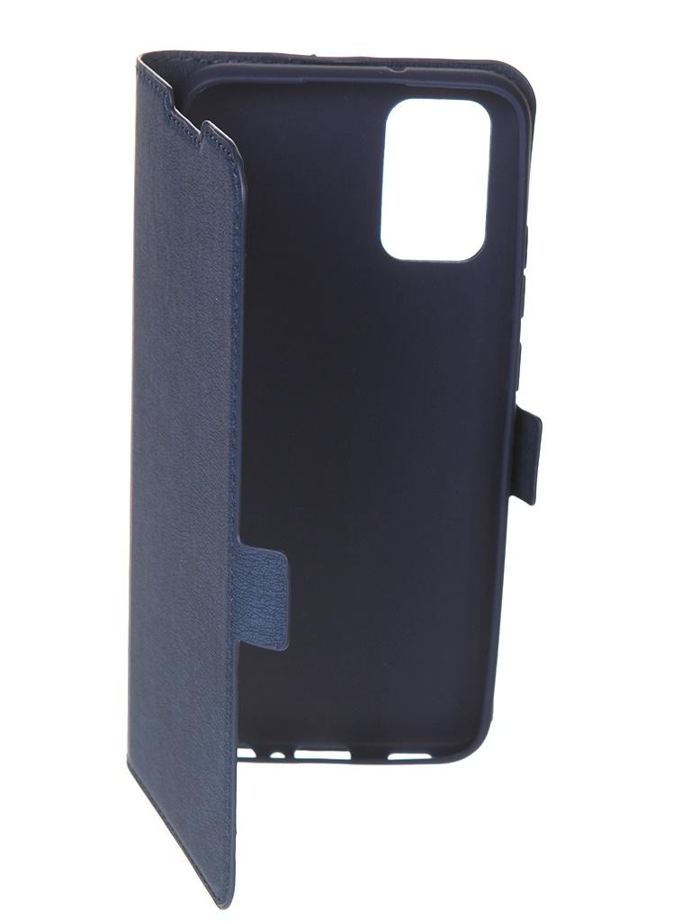 Чехол с флипом DF для Samsung Galaxy A02s Blue sFlip-76