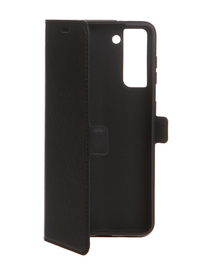 Чехол с флипом DF для Samsung Galaxy S21 Black sFlip-77