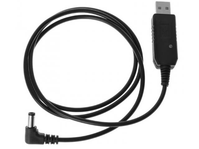 Зарядное устройство USB кабель - зарядное устройство для раций Baofeng и Kenwood с индикатором 15548 зарядное