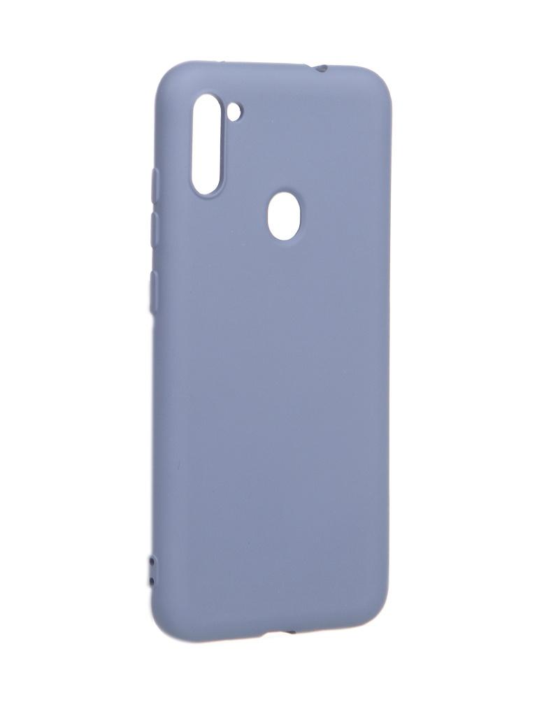 Чехол Akami для Samsung Galaxy A11 / M11 Charm Silicone Grey Blue 6921001744806