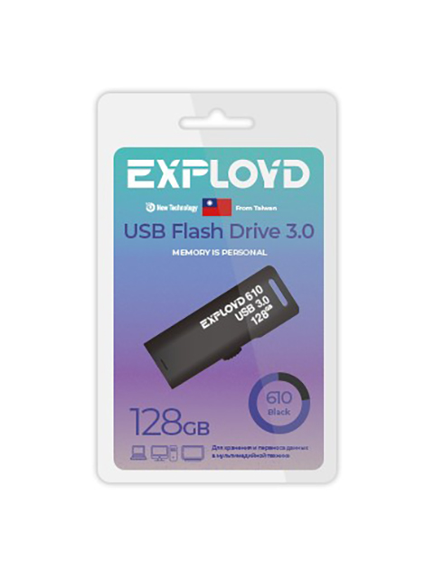 USB Flash Drive 128Gb - Exployd 610 3.0 EX-128GB-610-Black