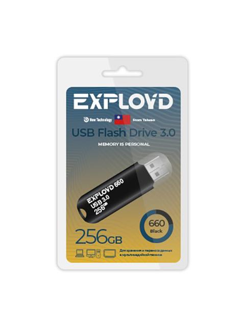 USB Flash Drive 256Gb - Exployd 660 3.0 EX-256GB-660-Black