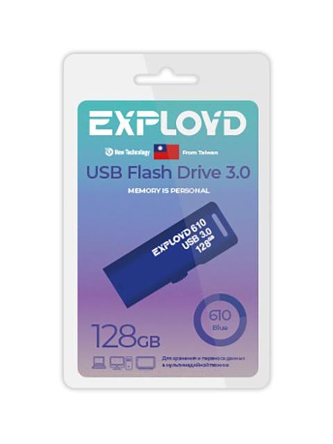 USB Flash Drive 128Gb - Exployd 610 3.0 EX-128GB-610-Blue