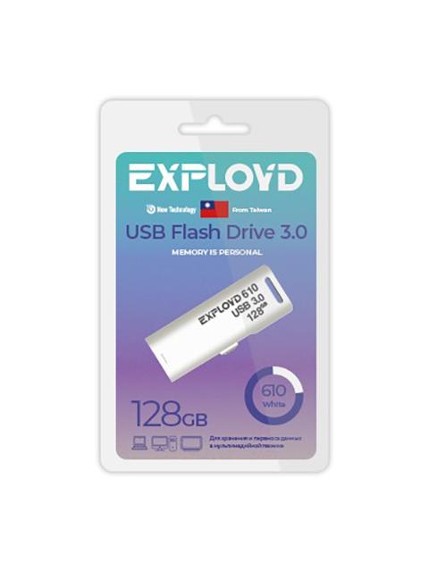 USB Flash Drive 128Gb - Exployd 610 3.0 EX-128GB-610-White