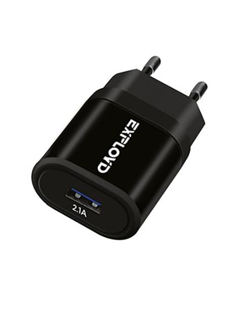 Зарядное устройство Exployd 1xUSB 2.1A Black EX-Z-972