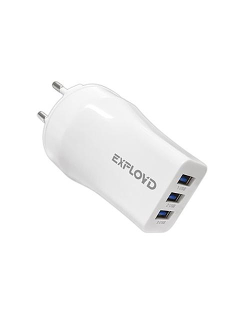 Зарядное устройство Exployd 3хUSB 3.1A White EX-Z-979