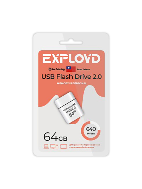 USB Flash Drive 64Gb - Exployd 640 2.0 EX-64GB-640-White