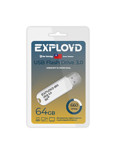 USB Flash Drive 64Gb - Exployd 660 3.0 EX-64GB-660-White