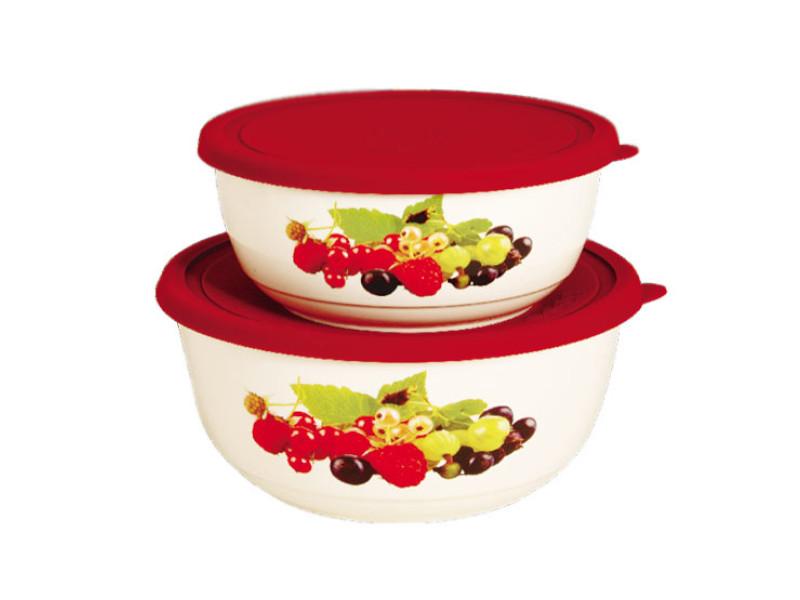 Набор салатников с крышкой Oursson BS1888RC/RD набор салатников с крышкой oursson bs1890rc ga