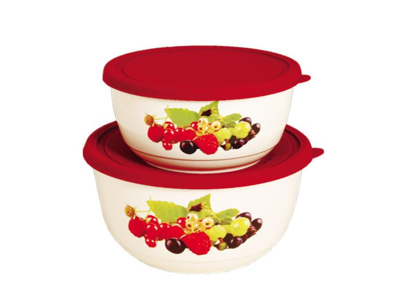 Набор салатников с крышкой Oursson BS3488RC/RD набор салатников с крышкой oursson bs1890rc ga