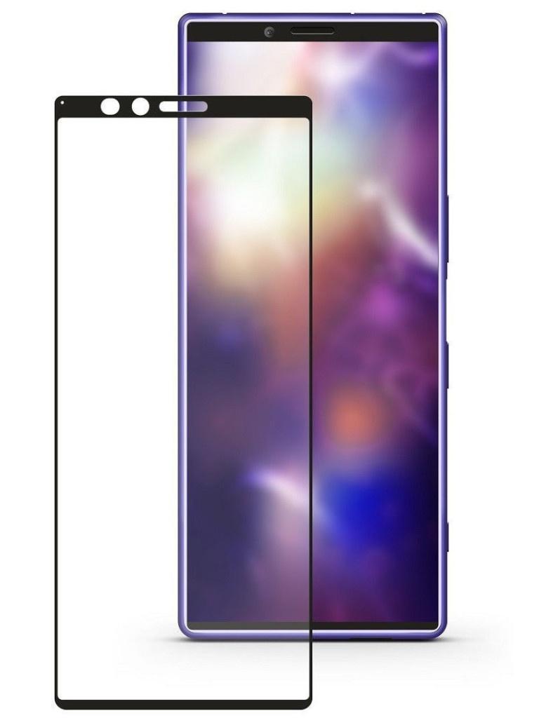 Защитное стекло Ainy для Sony Xperia 1 0.25mm Full Screen Glue Cover Black AF-SA1874A