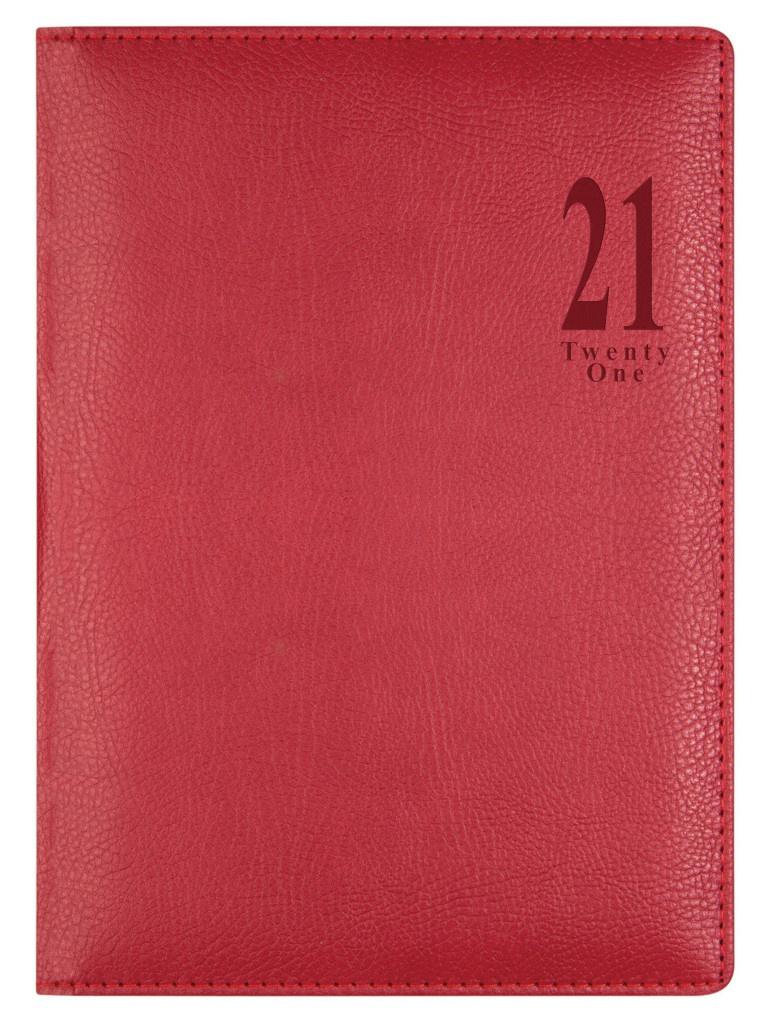 Ежедневник Letts Milano A5 искусственная кожа Red 910191