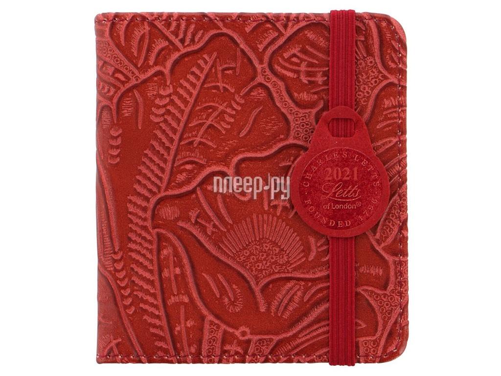Ежедневник Letts Baroque 100x90mm искусственная кожа Red 822987
