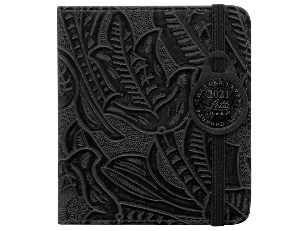 Ежедневник Letts Baroque 100x90mm искусственная кожа Black 822986