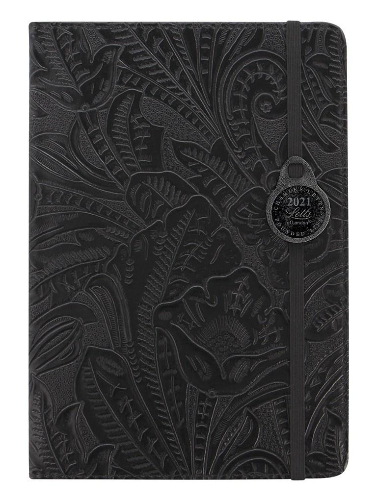 Ежедневник Letts Baroque A5 искусственная кожа Black 822977