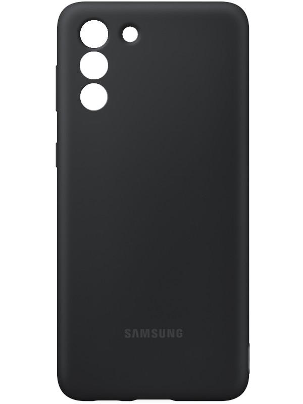 Чехол для Samsung Galaxy S21+ Silicone Cover Black EF-PG996TBEGRU