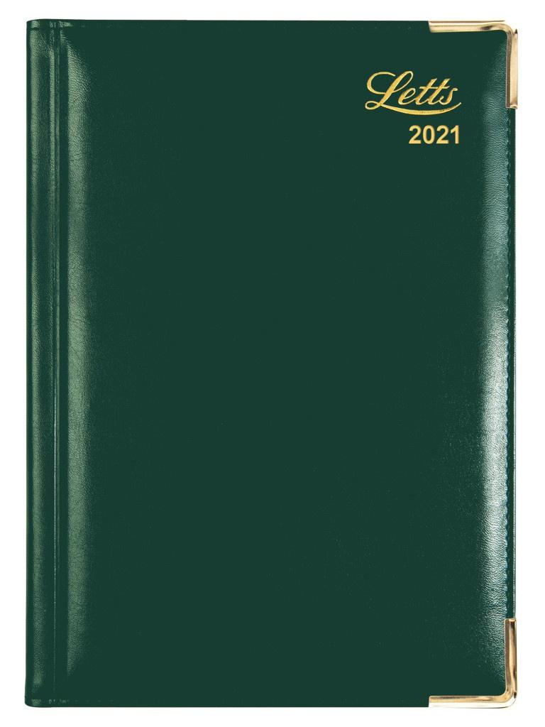 Ежедневник Letts Lexicon A5 искусственная кожа Green 822945