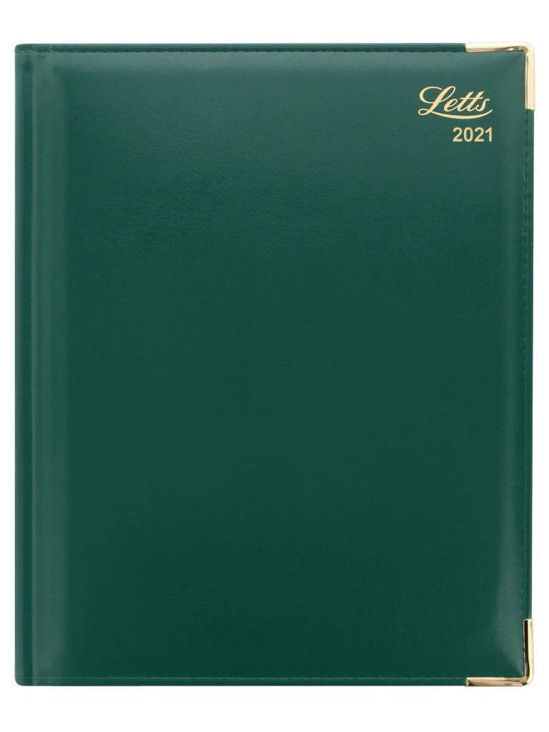 Ежедневник Letts Lexicon A4 искусственная кожа Green 822942