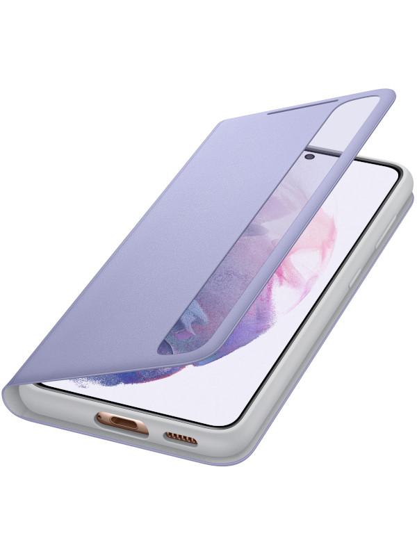 Чехол для Samsung Galaxy S21 Smart Clear View Cover Violet EF-ZG991CVEGRU