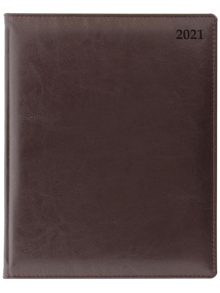 Ежедневник Letts Global Deluxe A4 натуральная кожа Burgundy 822927