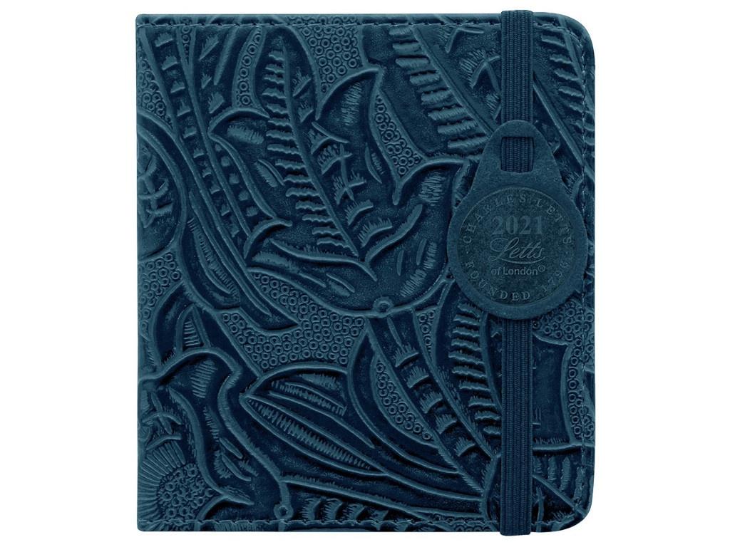 Ежедневник Letts Baroque 100x90mm искусственная кожа Blue 1051280