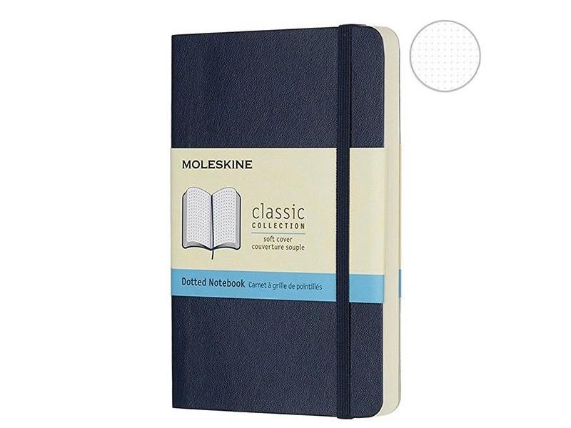 Блокнот Moleskine Classic Soft Pocket 90x140mm 96 листов Sapphire Blue QP614B20 / 430940