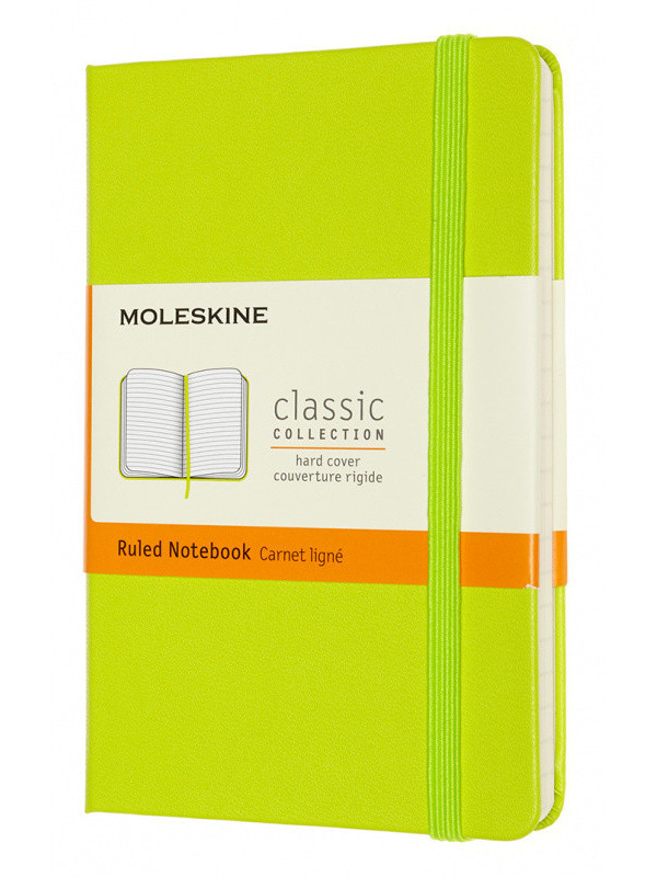Блокнот Moleskine Classic Pocket 90x140mm 96 листов Lime MM710C2 / 1215730