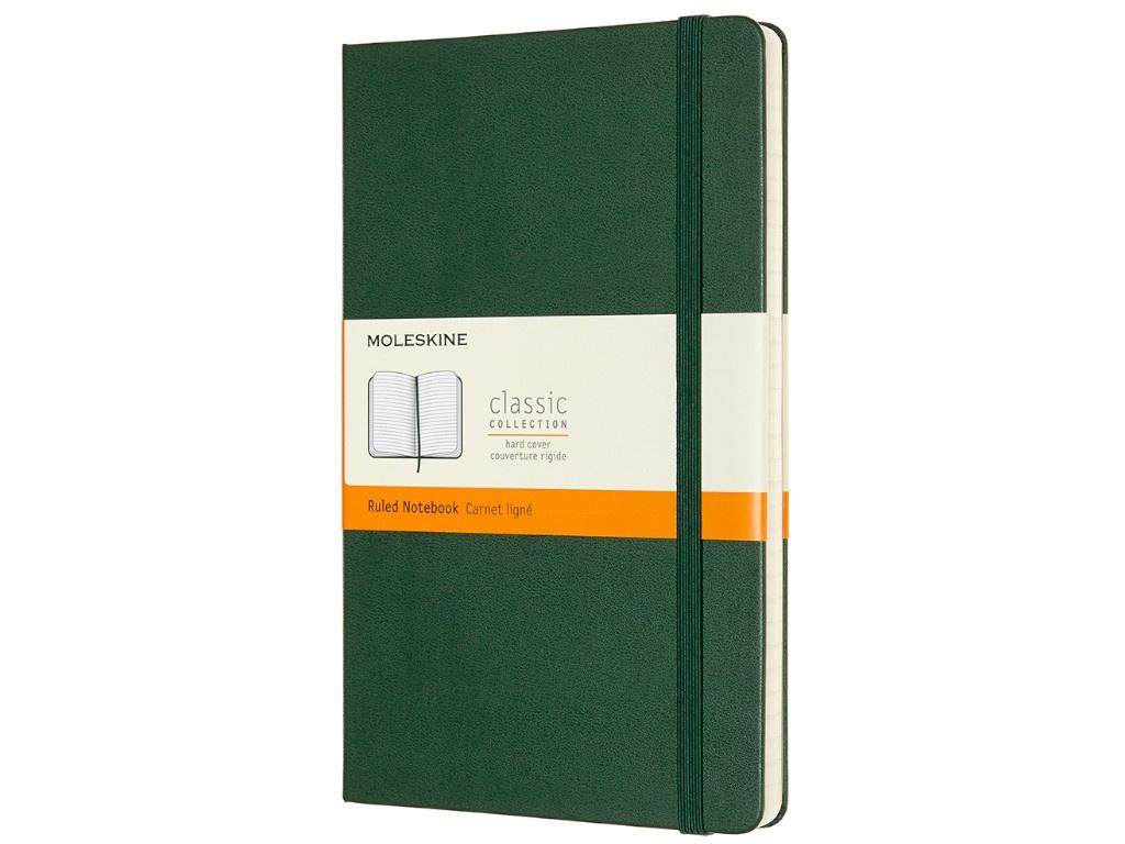 Блокнот Moleskine Classic Large 130x210mm 120 листов Green QP060K15 / 1127970