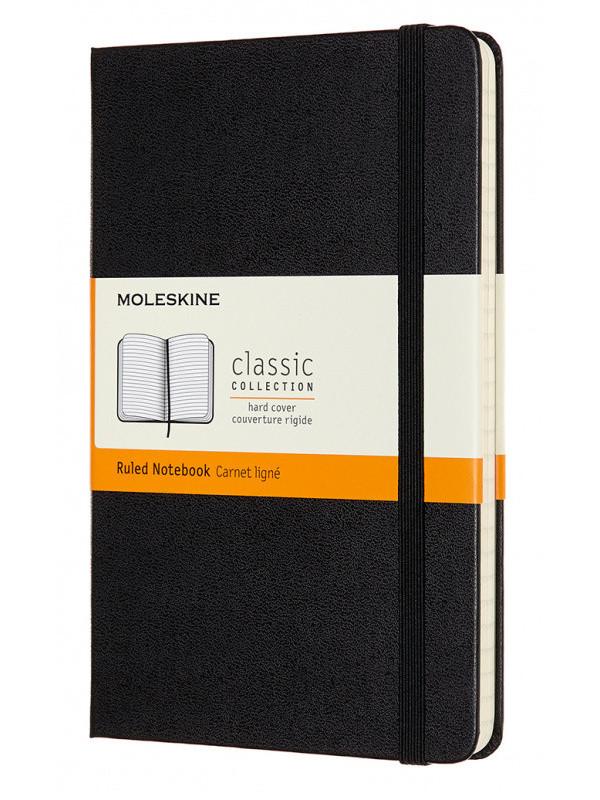 Блокнот Moleskine Classic Medium 115x180mm 120 листов Black QP050 / 1127639 блокнот для рисования moleskine art sketchbook medium 115x180mm 72 листа black artqp054 1139405