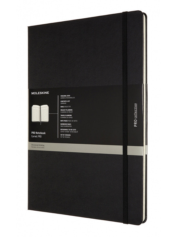 Блокнот Moleskine Professional A4 96 листов Black PROPFNT5HBK / 1139395