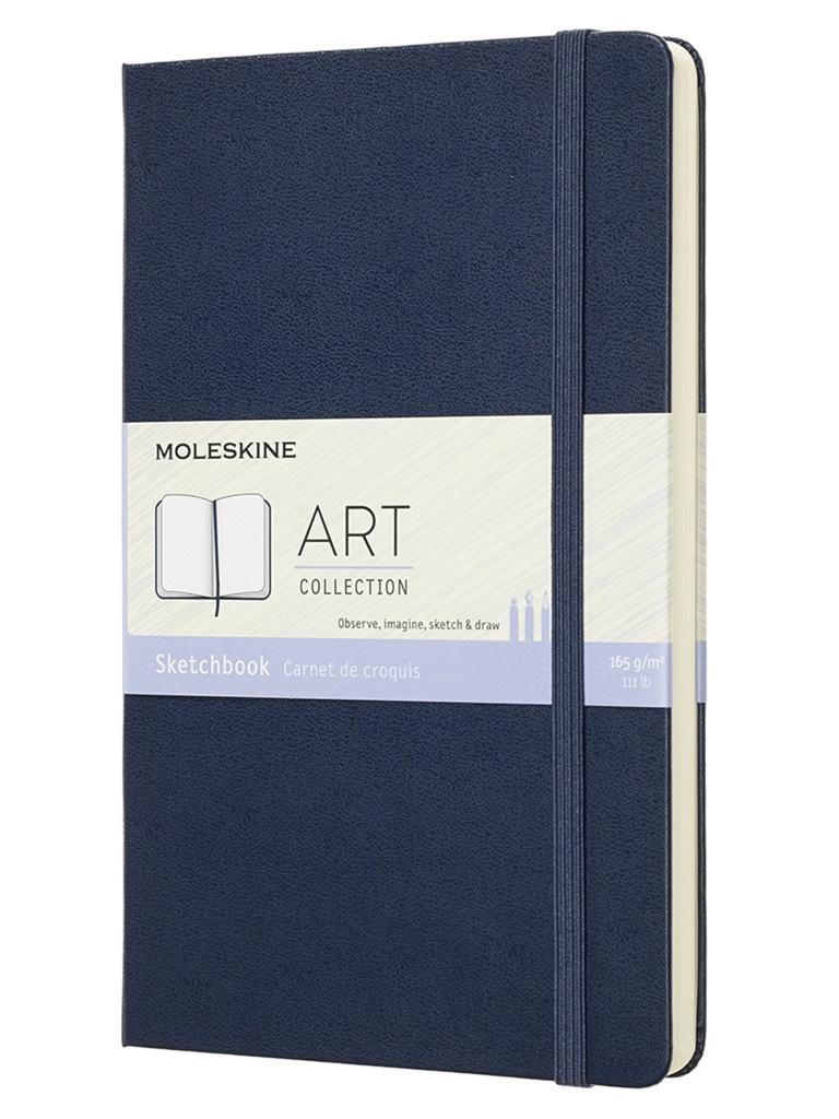 Блокнот для рисования Moleskine Art Sketchbook Medium 115x180mm 44 листа Blue ARTQP054B20 / 1139410