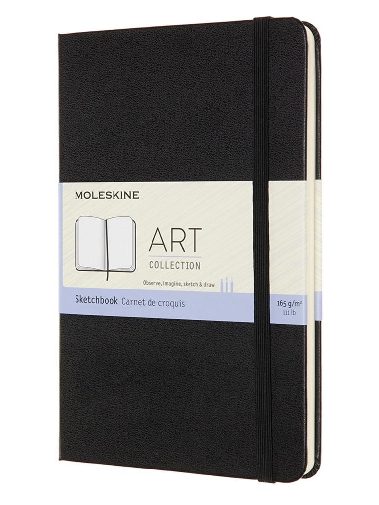 Блокнот для рисования Moleskine Art Sketchbook Medium 115x180mm 72 листа Black ARTQP054 / 1139405 блокнот для рисования moleskine art sketchbook medium 115x180mm 72 листа black artqp054 1139405