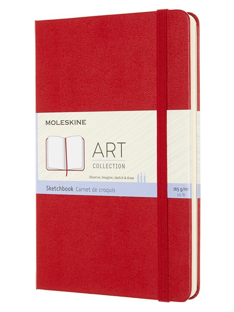 Блокнот для рисования Moleskine Art Sketchbook Medium 115x180mm 72 листа Red ARTQP054F2 / 1139409 блокнот для рисования moleskine art sketchbook medium 115x180mm 72 листа black artqp054 1139405
