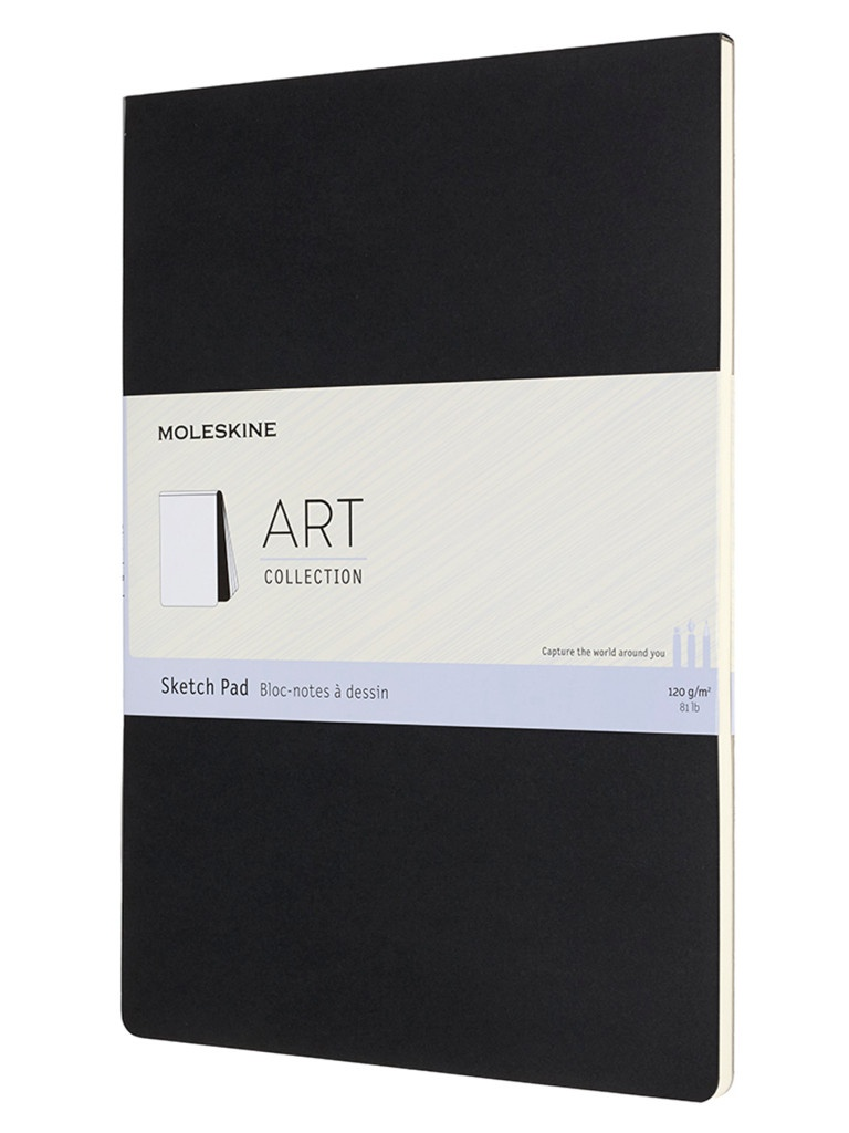 Блокнот для рисования Moleskine Art Soft Sketch Pad A4 44 листа Black ARTSKPAD8 / 1128468