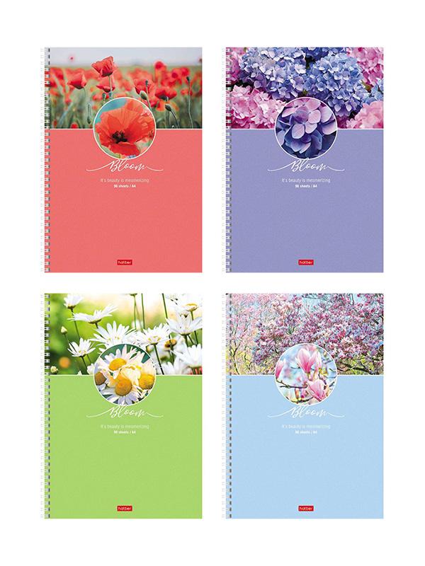 Тетрадь Hatber Красота цветения A4 96 листов 96Т4В1гр