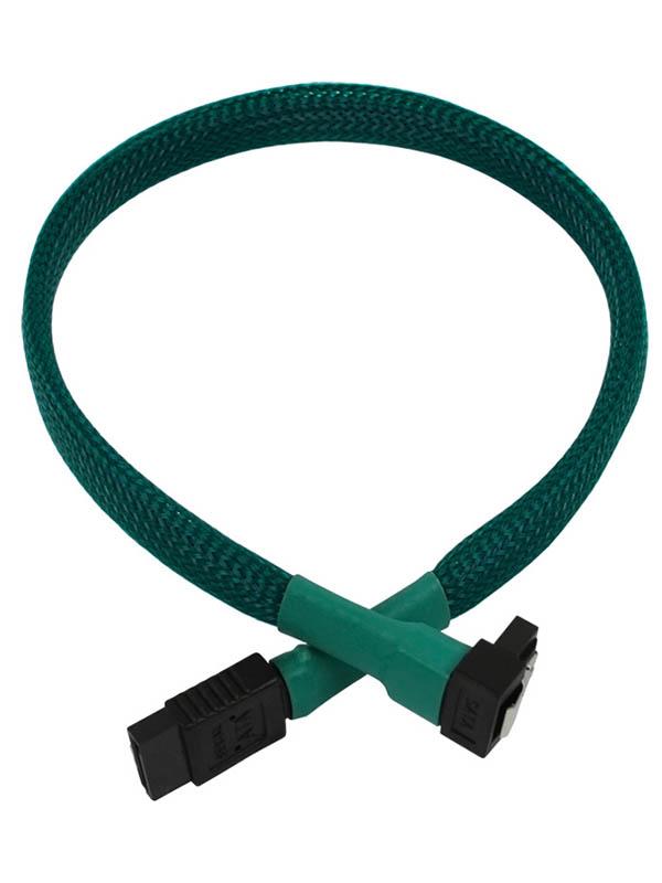 Аксессуар Кабель Nanoxia SATA 6Gb/s 45cm Green NXS6G4G