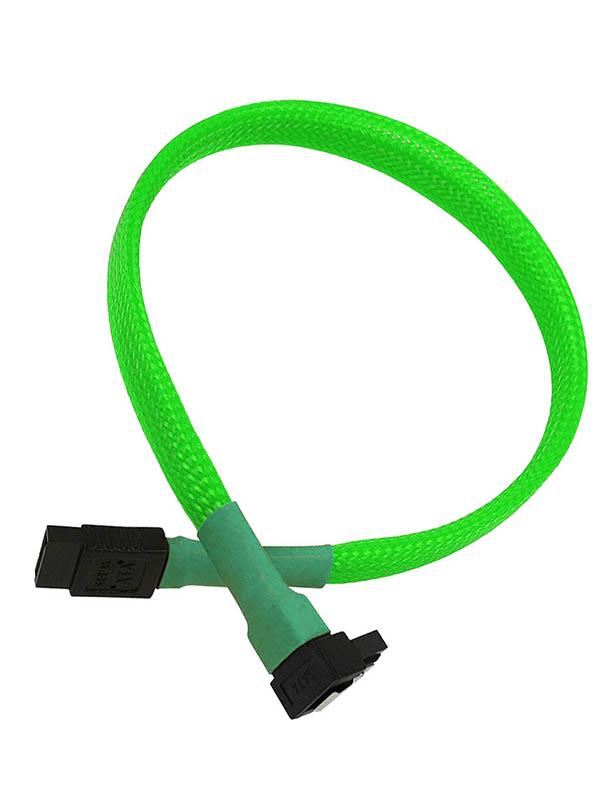 Аксессуар Кабель Nanoxia SATA 6Gb/s 60cm Neon Green NXS6G60NG