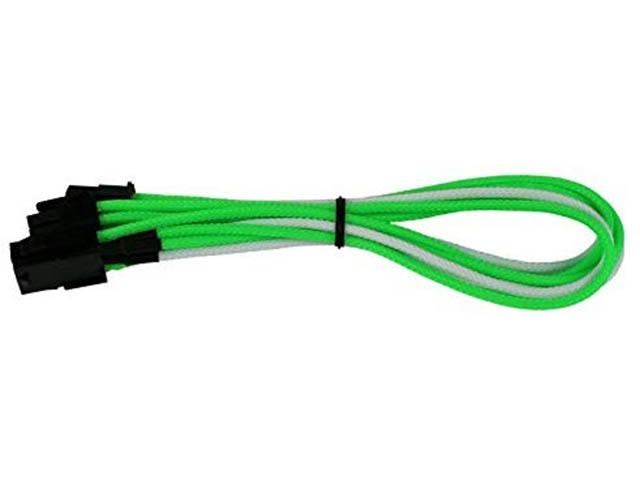 Аксессуар Переходник Nanoxia 6-pin PCI-E - 8-pin (6+2) 30cm Green-White NXP683EGW
