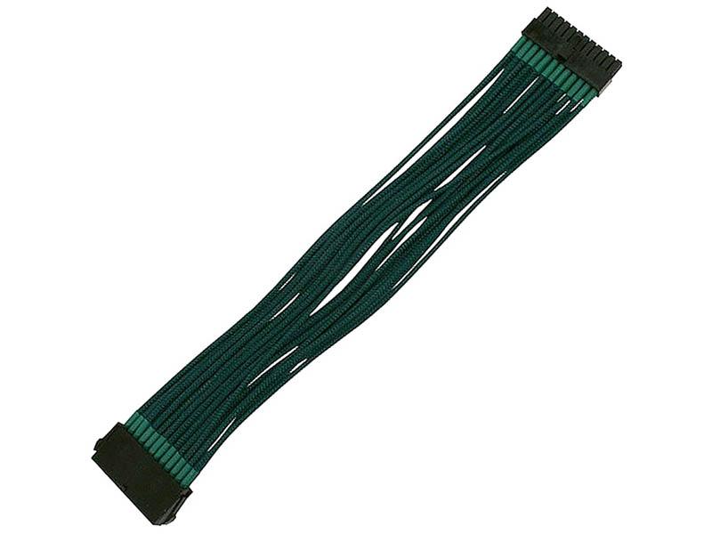 Аксессуар Удлинитель Nanoxia 24-pin ATX 30cm Green NX24V3EG