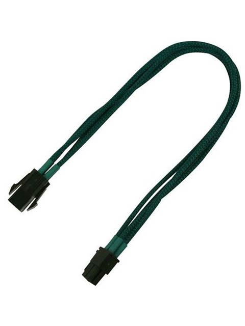 Аксессуар Удлинитель Nanoxia 4-pin P4 30cm Green NXP4V3EG