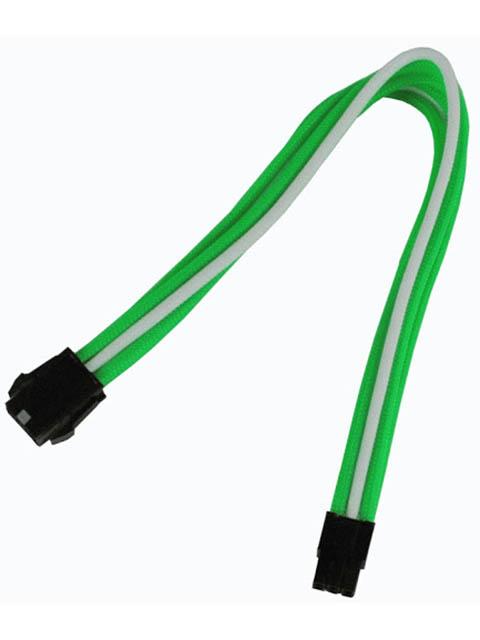 Аксессуар Удлинитель Nanoxia 6-pin PCI-E 30cm Green-White NX6PV3EGW