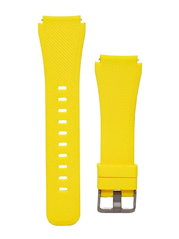 Аксессуар Ремешок Activ для Samsung Gear S3 Frontier/Gear S3Classic/Galaxy Watch 46mm Silicone Yellow 93092