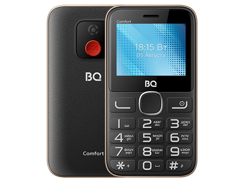 Сотовый телефон BQ 2301 Comfort Black-Gold телефон bq comfort 2301 черный золотистый