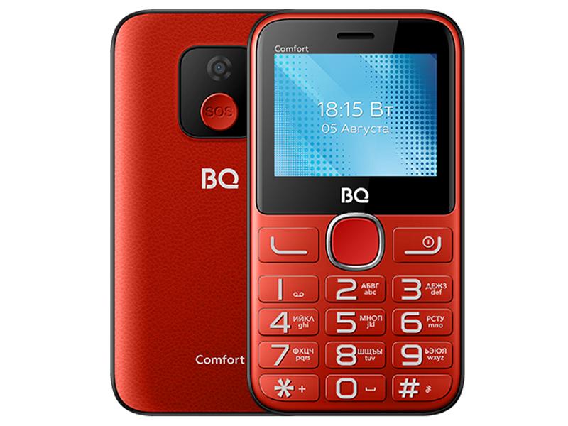 Сотовый телефон BQ 2301 Comfort Red-Black сотовый телефон bq 2301 comfort red black