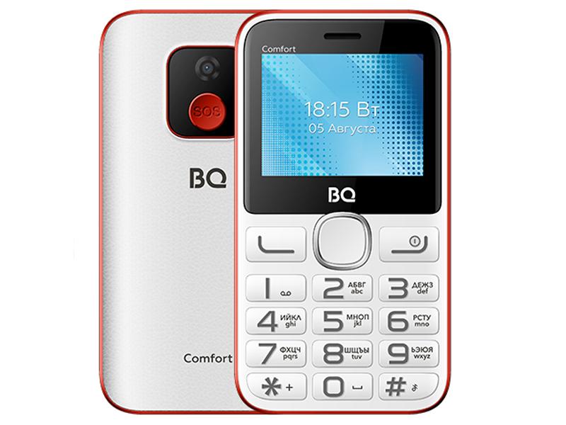 Сотовый телефон BQ 2301 Comfort White-Red