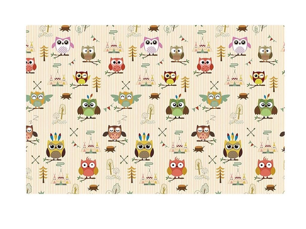 Развивающий коврик Mambobaby Soft Owl&Star Двухсторонний 190х130х1см