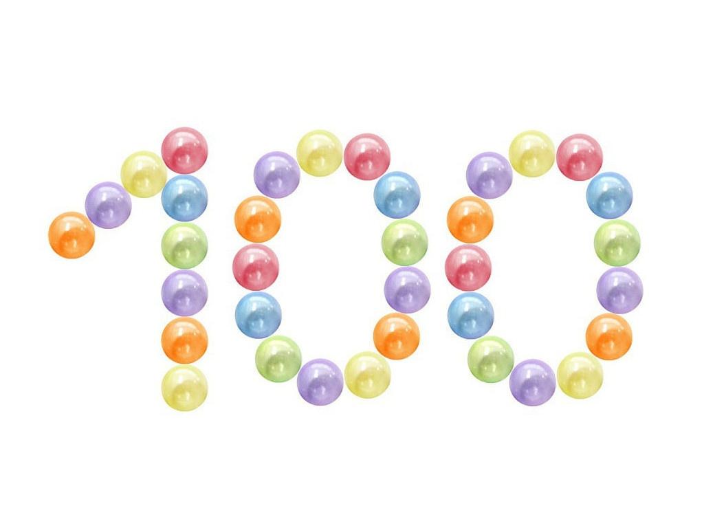 Игровой центр Юг-Пласт Набор шариков Bubble Gum 100шт 8см 2014 Transparent