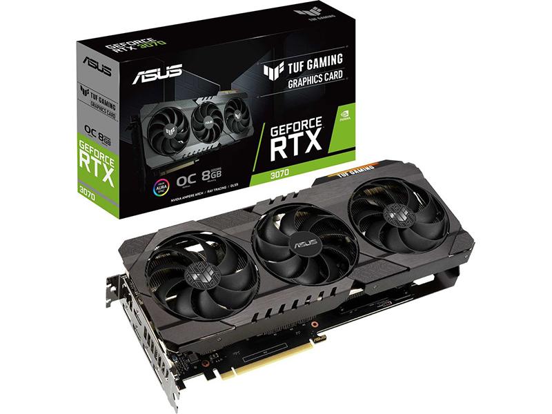Видеокарта ASUS TUF Gaming GeForce RTX 3070 OC 8GB TUF-RTX3070-O8G-GAMING